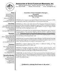 ASFPM Resolution on Quality Standards for Map Modernization