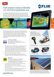 FLIR stattet weitere Modelle mit Wi-Fi-Kompatibilität ... - FLIR Systems