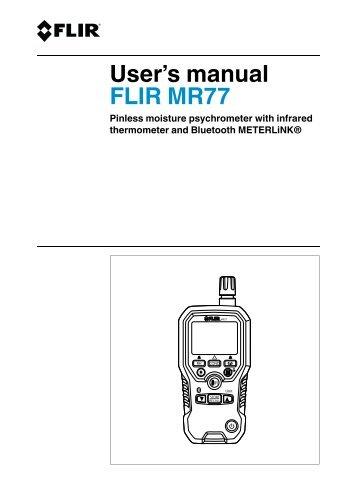 User's manual FLIR MR77 - Flir Systems