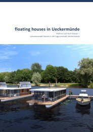 floating houses in Ueckermünde