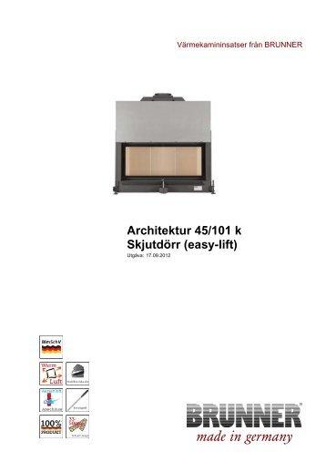 Architektur 45/101 k Skjutdörr (easy-lift) made in germany - Brunner