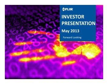 INVESTOR PRESENTATION - FLIR Systems