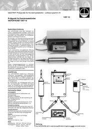 GESTRA® Prüfgeräte für Kondensatableiter · Lieferprogramm A1 ...
