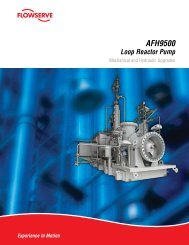 AFH9500 Loop Reactor Pump Bulletin - Flowserve Corporation