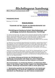 FR Hamburg fordert Abschiebestopp und großzügige Aufnahme ...