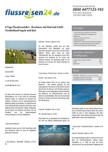 8 Tage Flusskreuzfahrt - IJsselmeer mit Rad und ... - Flussreisen 24