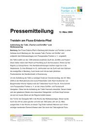 Pressemitteilung 12. März 2008 Treideln am Fluss-Erlebnis-Pfad