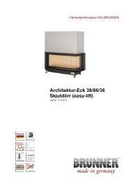 Architektur-Eck 38/86/36 Skjutdörr (easy-lift) - Brunner