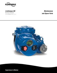 Maintenance and Spare Parts Limitorque QX - Flowserve Corporation
