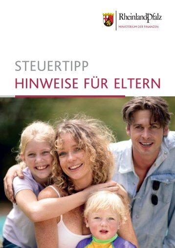 steuertipp hinweise für eltern - Finanzministerium Rheinland-Pfalz