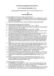 Landestrennungsgeldverordnung (LTGV) vom 15. Januar 1993 ...