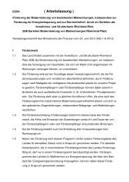 VV Modernisierung von Mietwohnungen ISB-Darlehen, Arbeitsfassung