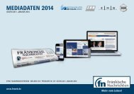 aktuellen Print-Mediadaten finden Sie hier - Fränkische Nachrichten