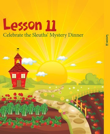Lesson 11: Celebrate the Sleuths' Mystery Dinner - Food and ...