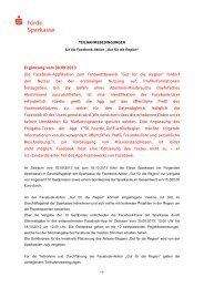 Teilnahme-bedingungen - Förde Sparkasse