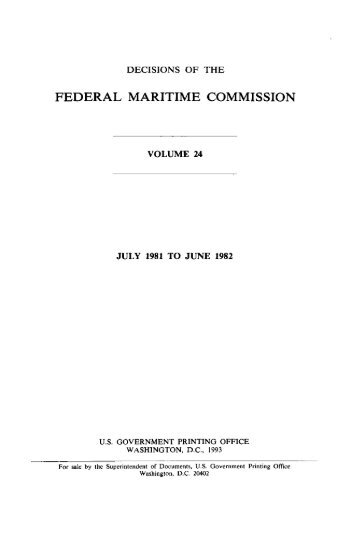Full Volume 24 - Federal Maritime Commission