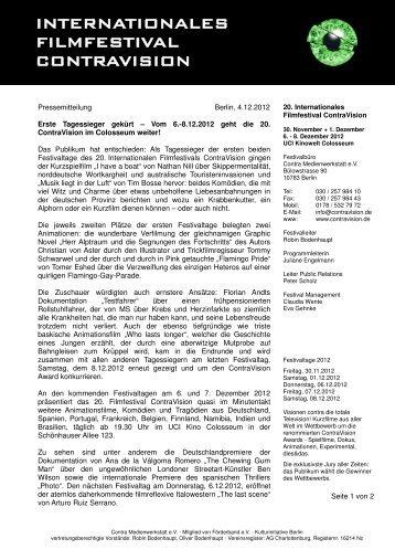 Pressemitteilung | Pdf - Förderband - Kulturinitiative Berlin