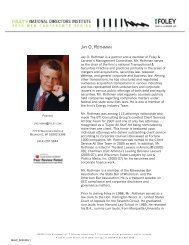 JAY O. ROTHMAN - Foley & Lardner LLP