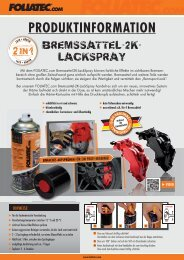 Bremssattel-2K-Lackspray - Foliatec