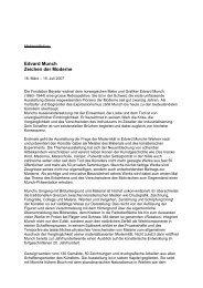 EDVARD MUNCH – ZEICHEN DER MODERNE - Fondation Beyeler