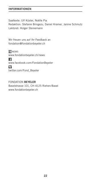 HODLER - Fondation Beyeler