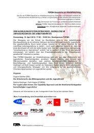 FORBA-Gespräche zur Arbeitsforschung DEM ...