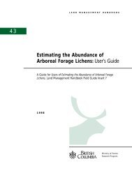 Estimating the Abundance of Arboreal Forage ... - Ministry of Forests