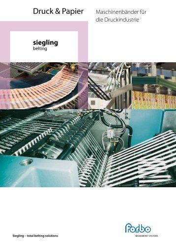 Maschinenbänder in der Druckindustrie - Forbo Siegling