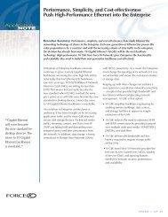 High-Performance Ethernet for the Enterprise - Force10 Networks