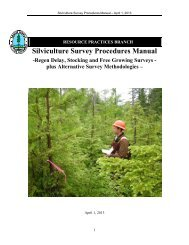 Silviculture Survey Procedures Manual - Ministry of Forests, Lands ...