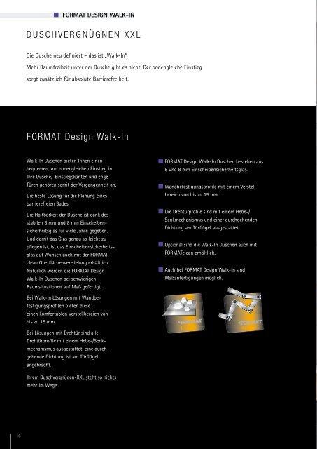 FORMAT Design – Duschabtrennungen für jeden Anspruch