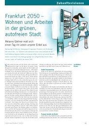 Forschung Frankfurt | Ausgabe 2-2013 | Frankfurt 2050 - Wohnen ...