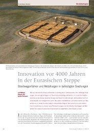 Archäologie. Innovation vor 4000 Jahren in der Eurasischen Steppe