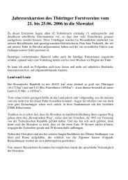 Exkursion in die Slowakei - Deutscher Forstverein