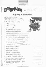 Capacity in Metric Units