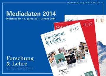 Download Mediadaten 2014 - Forschung & Lehre