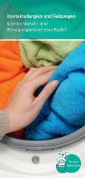 Kontaktallergien und Reizungen Spielen Wasch- und Reinigungsmittel ...