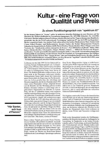 Kultur eine Frage von Qualitat und Preis - Forum – für Politik ...