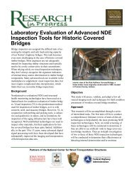 Laboratory Evaluation of Advanced NDE Inspection Tools for ...