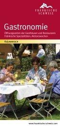 Gastronomieführer 2013 - Die Fränkische Schweiz