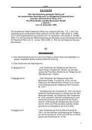 1 S A T Z U N G über die Gestaltung geneigter ... - Stadt Frankenthal