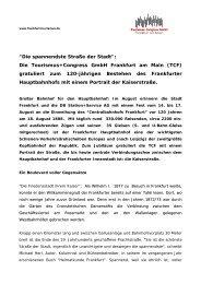 Kaiserstrasse - Tourismus und Congress GmbH