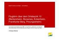Fluglärm über dem Ortsbezirk 10 (Berkersheim ... - Frankfurt am Main
