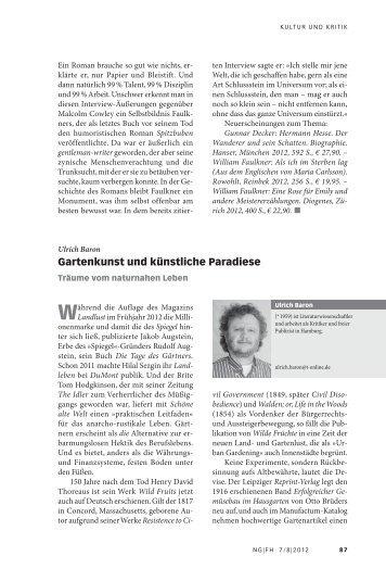Gartenkunst und künstliche Paradiese - Neue Gesellschaft ...