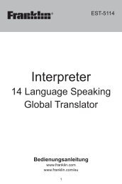 Interpreter - Franklin Electronic Publishers