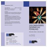 ZIELORIENTIERTE GESPRÄCHS- FÜHRUNG - Franz-Hitze-Haus