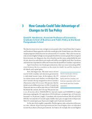 How Changes in US Tax Policy Will Affect Canada - Fraser Institute