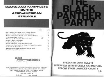 the black panther party - Freedom Archives