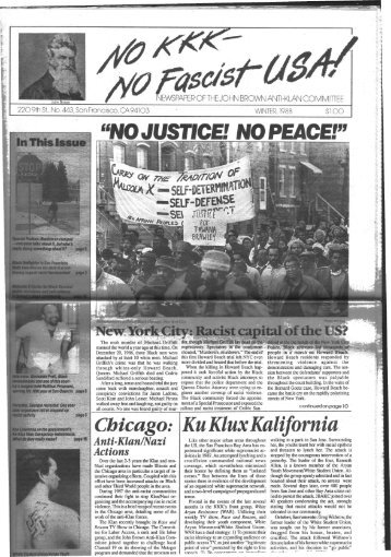 Chicago: Anti-Klan/Nazi Actions Ku Klux Kalifomia - Freedom Archives
