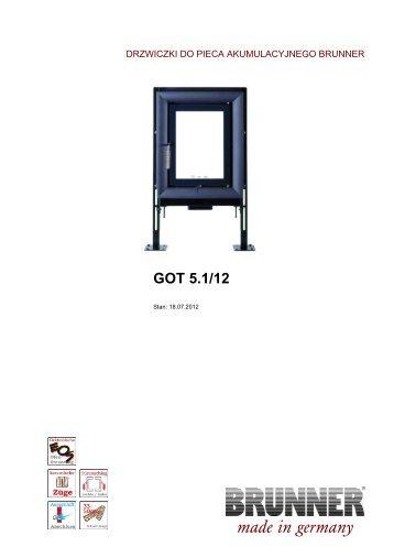 got hbo 20 made in germany brunner. Black Bedroom Furniture Sets. Home Design Ideas